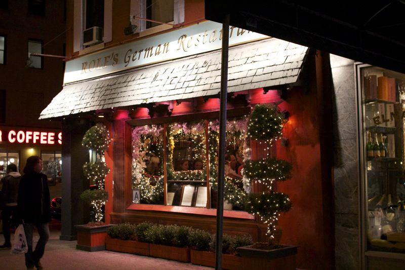 Rolf S German Restaurant Holiday 2011 New York Storied